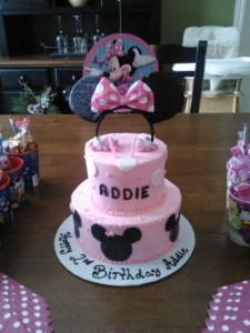 Minnie Mouse and Polka Dots Pink Cake