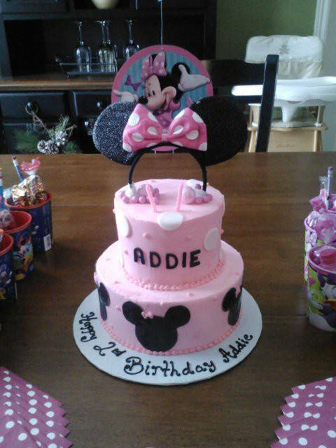 Pink Polka Dot Minnie Mouse Cake Tiffany Takes the Cake