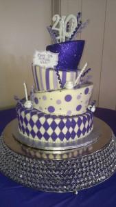 Topsy Turvy Mad Hatter Purple Cake