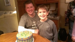 Ian and Eric with cake