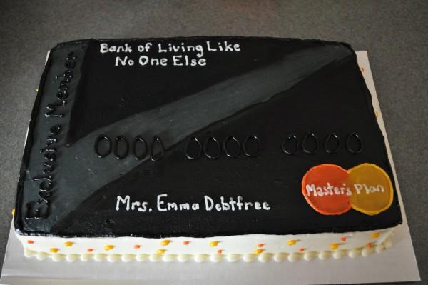 Credit card cake