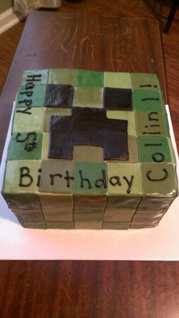 Minecraft Square Cake