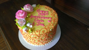 Scroll Anniversary Cake