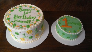 St. Patrick's Day Birthday cake