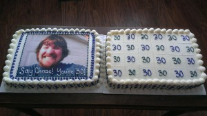 30th birthday edible image cakes