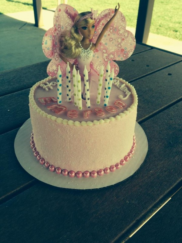 Barbie Pink Sugared Cake