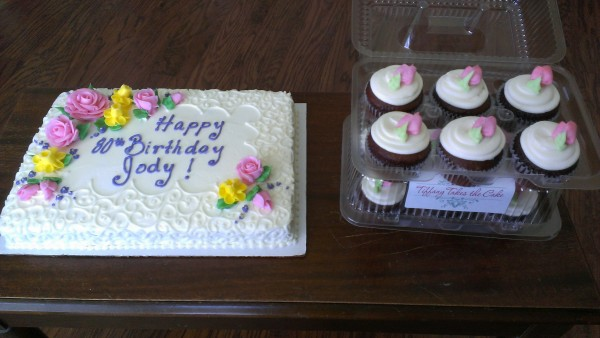 Scroll and Spring Flowers Sheet cake