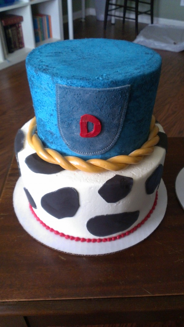 Cow Print and Denim Cake