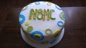 Neon Circles Cake 2