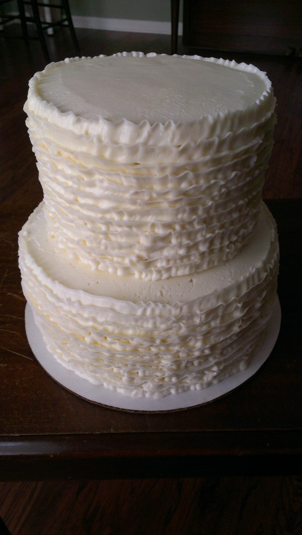 2 Tier Ruffled cake