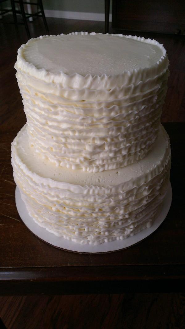 2 Tier Ruffled cake