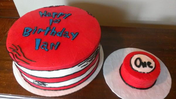 Cat in the Hat Cake with Smash
