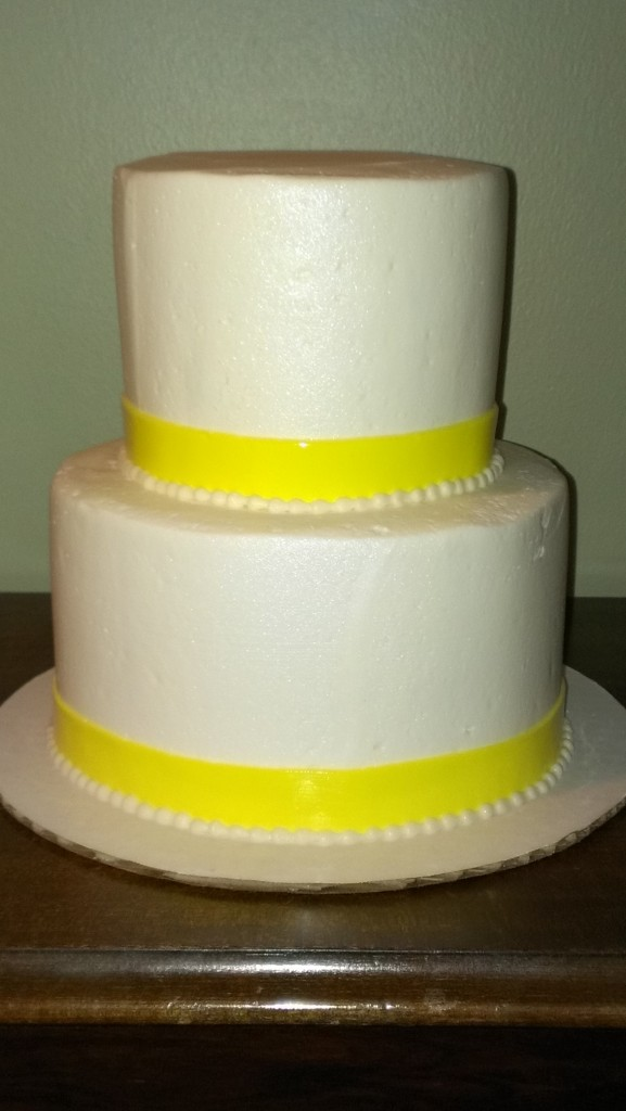 Yellow banded cake