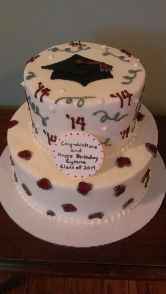 Cheetah Print Grad Cake