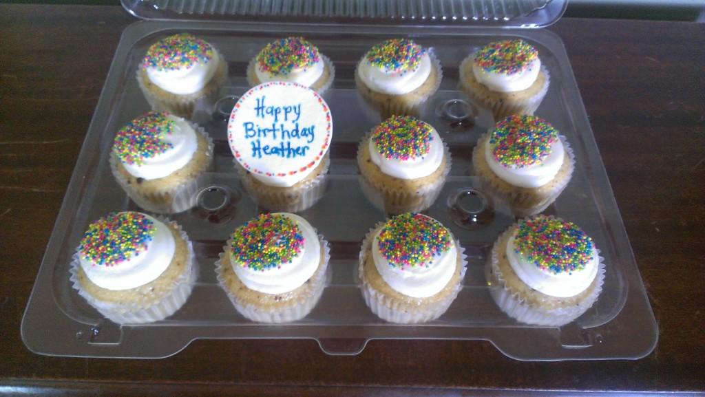 Neon Sprinkle Cupcakes